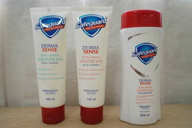 Safeguard Derma Sense Gently Cleanses Face & Body Wash and Facial Cleanser