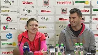 Simona Halep And Her Boyfriend Horia Tecau At The Press Conference
