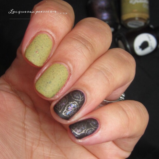 Step By Step Nail Art Thursday Fall Leaf Manicure Lacquerexpression