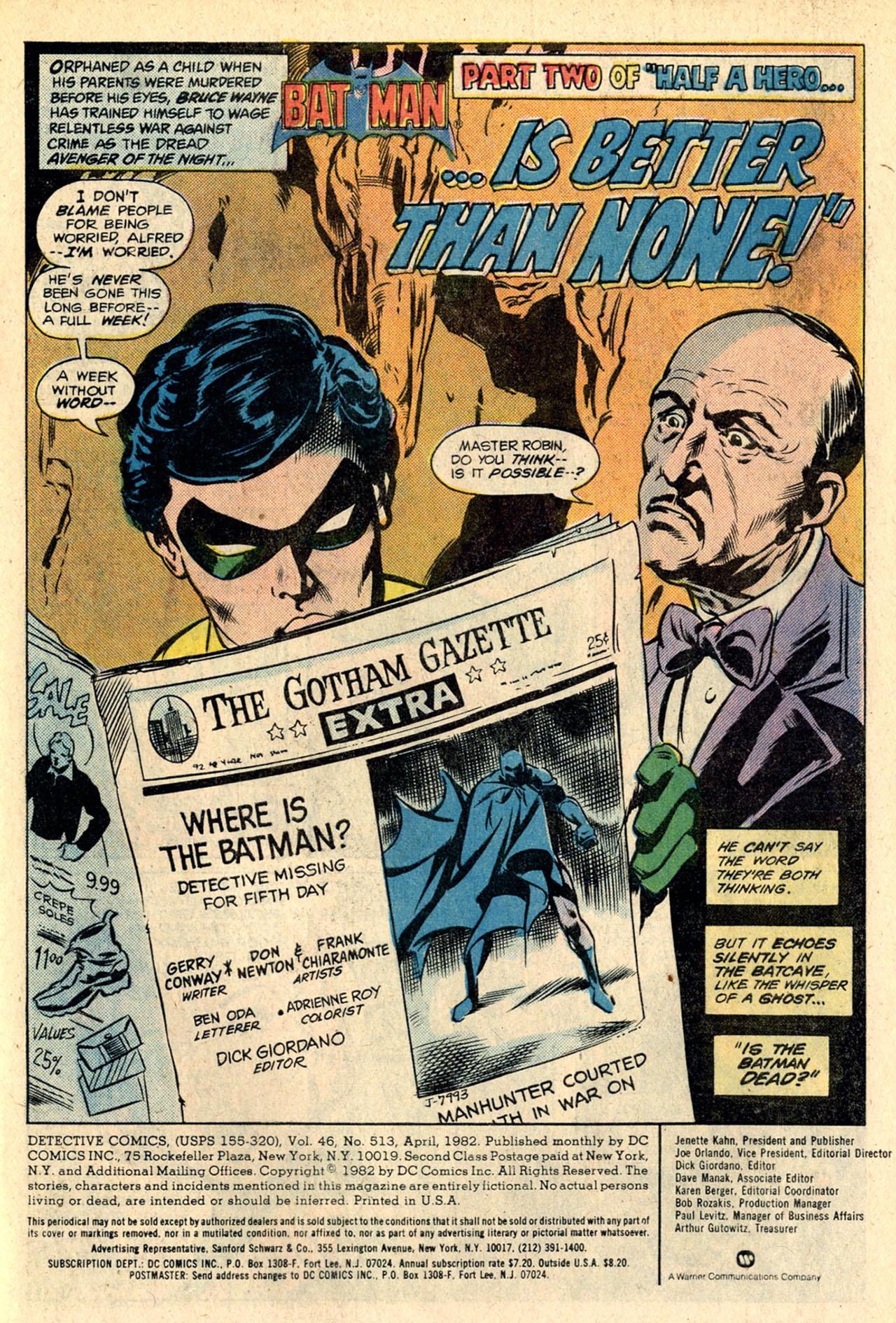 Detective Comics (1937) 513 Page 2