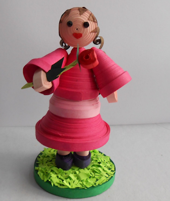 Cute quilling doll handmade design s2016 - quillingpaperdesigns