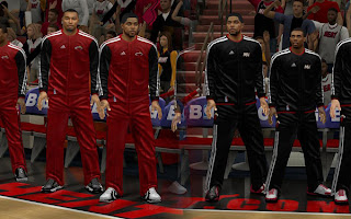 NBA 2K13 Miami Heat Warmup Jersey Mod