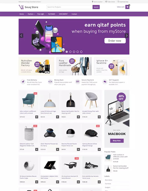 Share Free Souq Store Premium Ecommerce Blogger Template