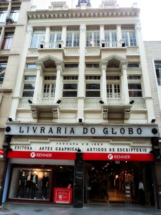 Livraria do Globo, na Rua dos Andradas, em Porto Alegre