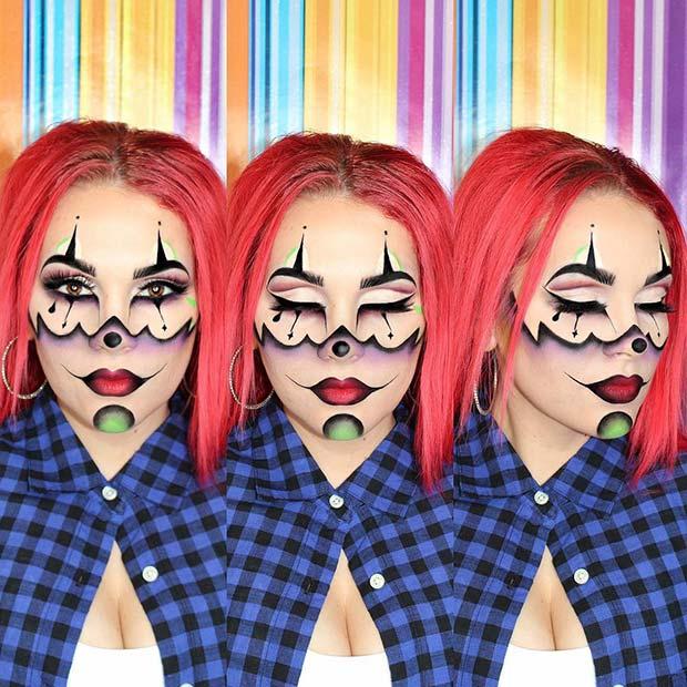 ... 21+ Trendy Scary Clown Halloween Costumes Makeup 2018 ...