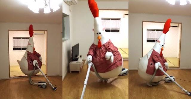 【有片睇】日本潮媽大玩Cosplay 扮母雞吸塵打掃