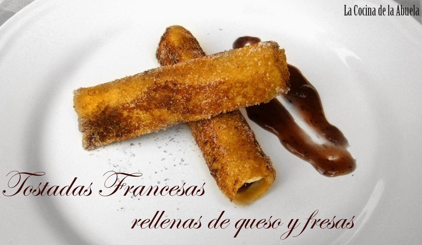 Tostadas Francesas Enrolladas.