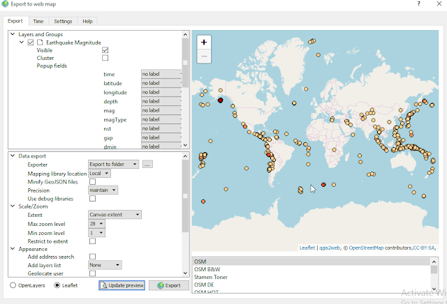 Web Mapping with OSM basemap QGIS