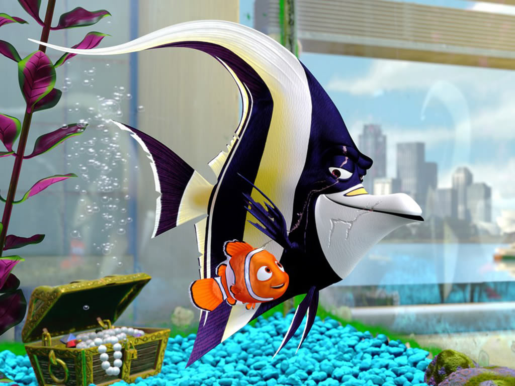 Finding Nemo Disney Walt Disney Movies Fish Animation: 6 Disney Gill From Finding Nemo Cartoon Fish Wallpaper