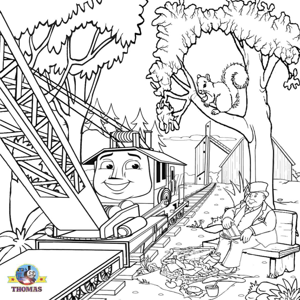 Free coloring pages printable pictures to color kids for Thomas the train color page