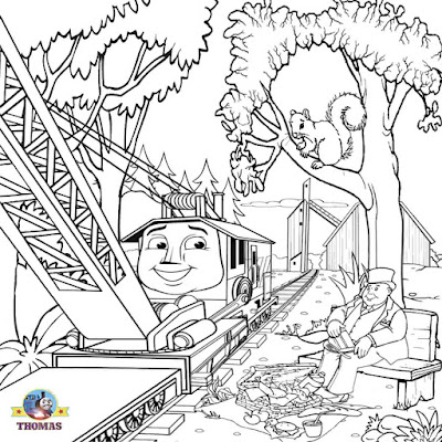 Free printable Thomas the train rocky coloring Sodor steam engine pictures to color coloring pages