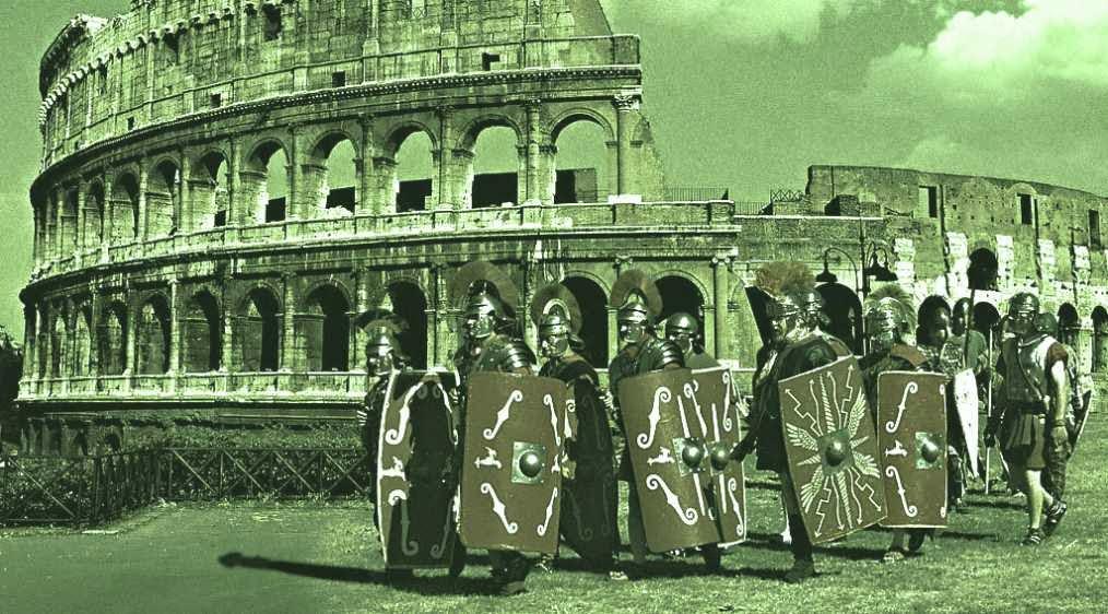 Colesio romano y legionarios