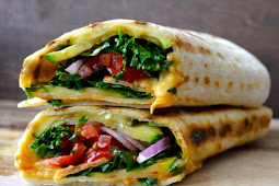 Grilled Zucchini Hummus Wrap #vegan #vegetarianrecipe