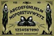 A Ouija ou Tábua Ouija, criada para ser usada como método da necromancia, é qualquer superfície plana com letras, números ou outros símbolos em que se coloca um indicador móvel, utilizada para comunicação com espíritos.