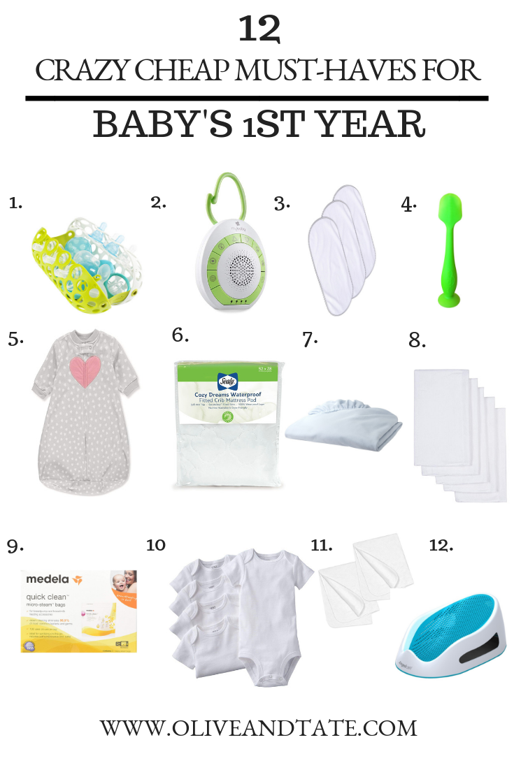 12 Crazy Cheap Must-Haves to Survive Baby's First Year