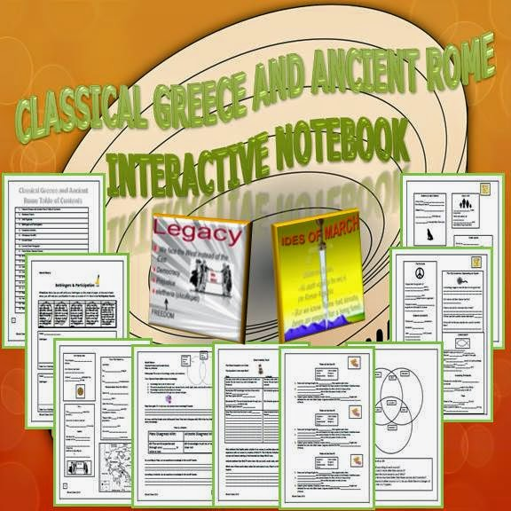 Classical Greece and Ancient Rome Interactive Notebook