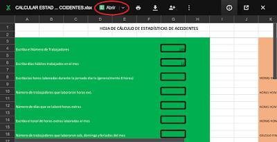 Programa para calcular estadísticas de accidentes on line 1