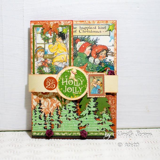 Z Fold Pop Up 3D Card 2 Christmas Magic
