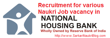 Naukri Vacancy Recruitment in NHB