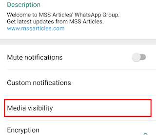 Click on 'Media visibility'