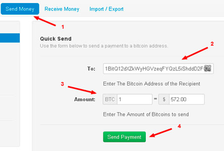 How to send Bitcoins