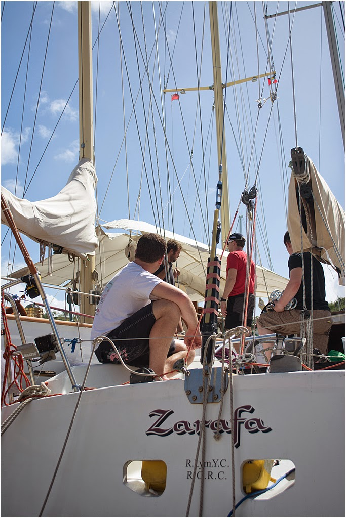 Crew on Zarafa taking time out