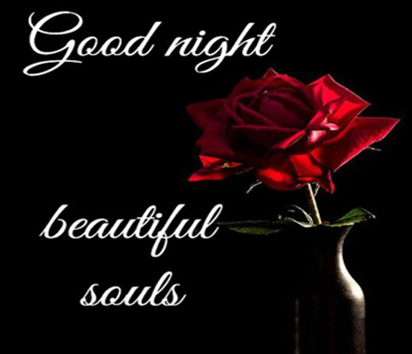 good night love flowers images