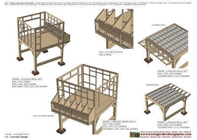 Home Garden Plans L301 Chicken Coop Plans Construction Roll Out Nest Boxes How To Build A