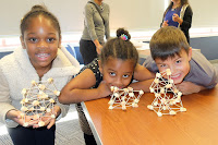 kids STEM event with marshmallows