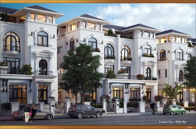 Thiết kế mẫu biệt thự Louis City
