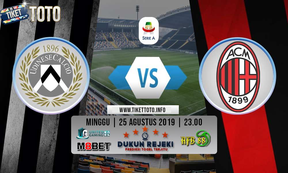 Prediksi Pertandingan Udinese Vs Ac Milan 25 Agustus 2019