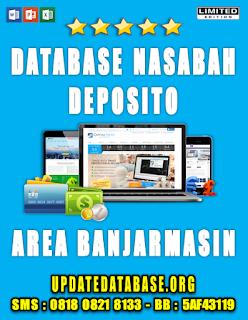 Jual Database Nasabah Deposito Banjarmasin