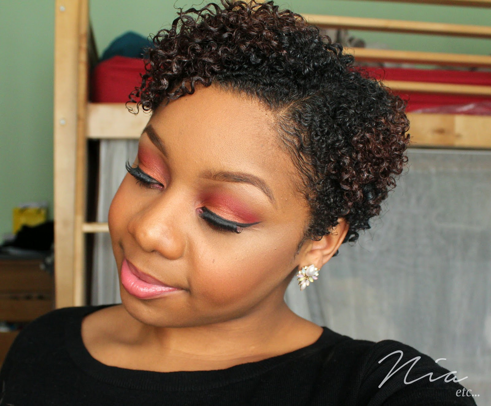 Summertime Orange and Red MakeUp Look 7
