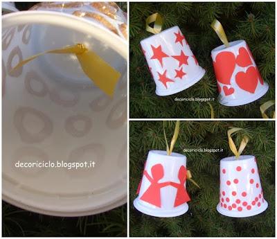 Lavoretti Di Natale Handmade.Decoriciclo Decorazioni Per L Albero Di Natale Con Vasetti Dello