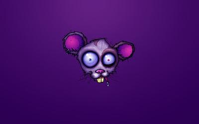Papel de parede Cartoon Rato maluco
