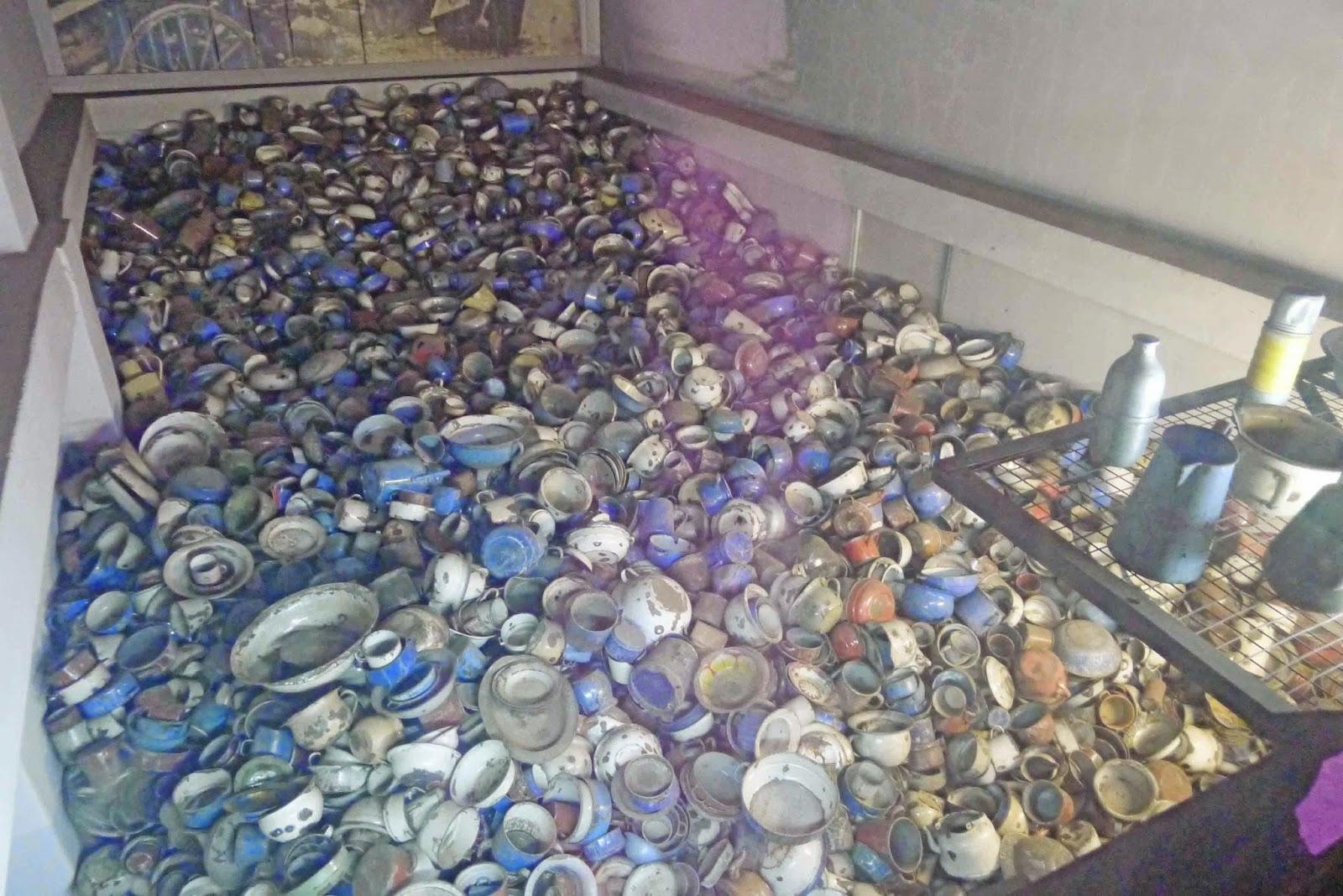 Confiscated Kitchen Ware at Auschwitz
