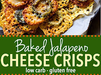 EASY Baked Jalapeno Cheese Crisps Recipe (Gluten Free, Low Carb)