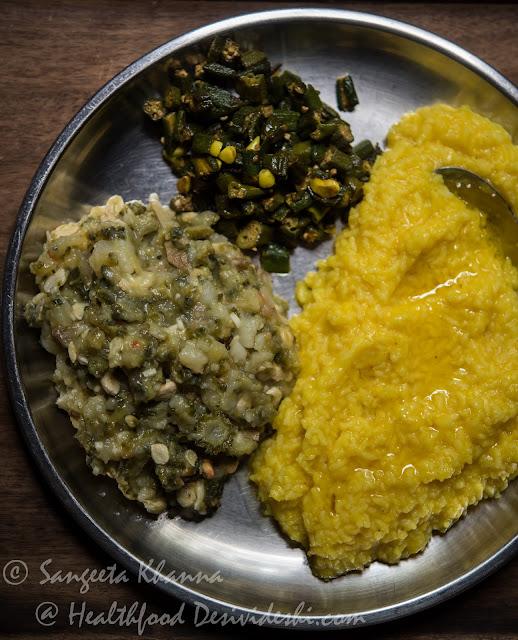 Khichdi karele ka bharta