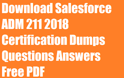 Download Salesforce ADM 211 2018 Certification Dumps Questions Answers Free PDF