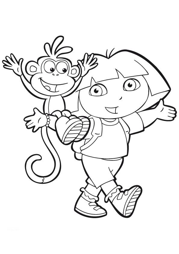 Image Result For Dora The Explorer Coloring Pages Online
