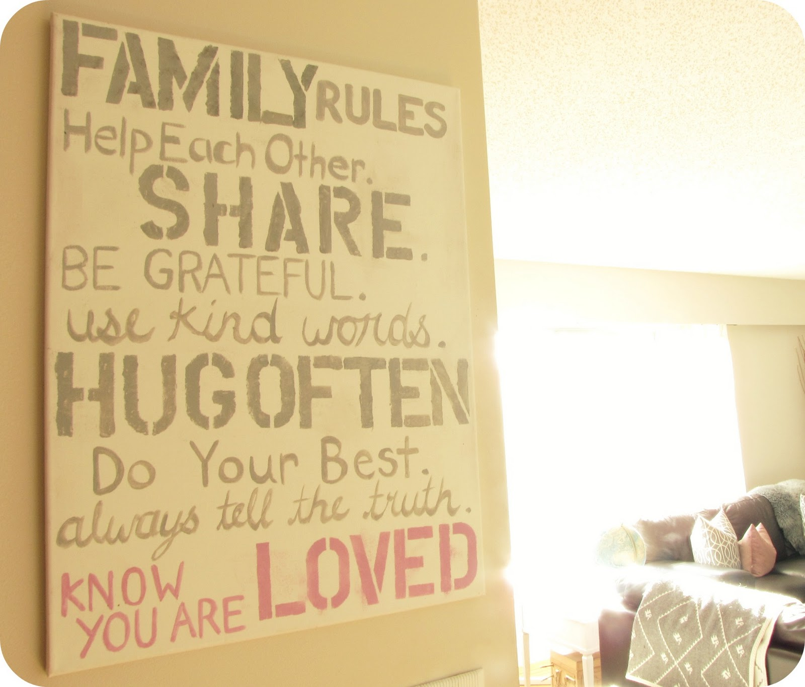 My House Of Giggles: Family Rules ...... Our New Sign