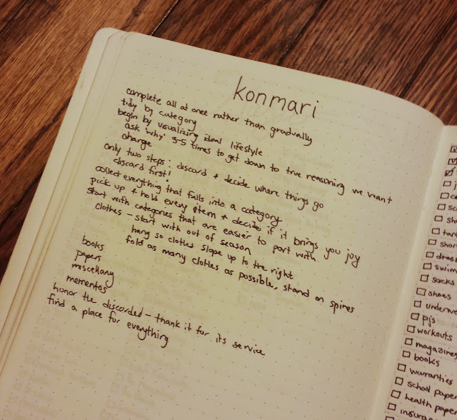 KonMari Method Notes