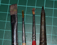 Damaged brushes