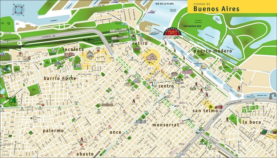 Mapa Turístico de Buenos Aires