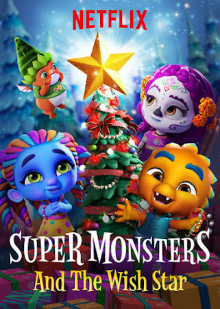 Poster Of Free Download Super Monsters and the Wish Star 2018 300MB Full Movie Hindi Dubbed 720P Bluray HD HEVC Small Size Pc Movie Only At worldfree4u.com
