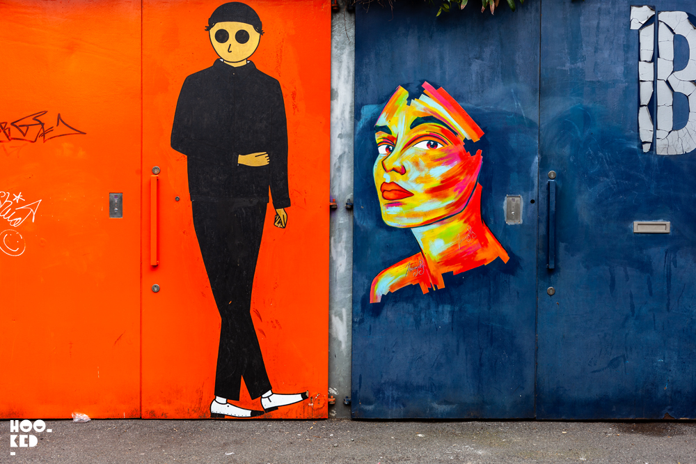 French Street Artist Manyoly face to face with fellow French duo Kamlaurene