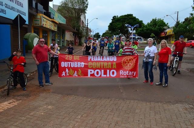 Rotary Club de Roncador promove o 4º Pedalando contra a pólio