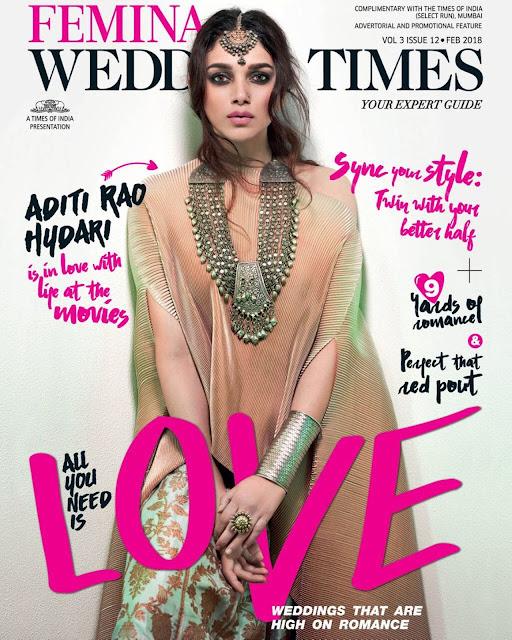 Aditi Rao Hydari on Femina Wedding Times February 2018 Issue