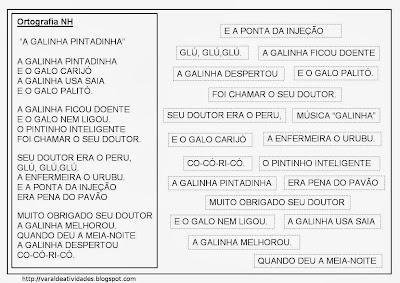 Resultado de imagem para TEXTO RECORTADO A GALINHA  E O GALO CARIJO