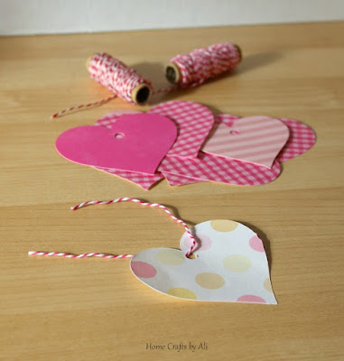 scrapbook paper valentine heart tree cricut explore twine